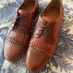 1937 Footwear Cognac & Brown Kiltie Oxford Shoe
